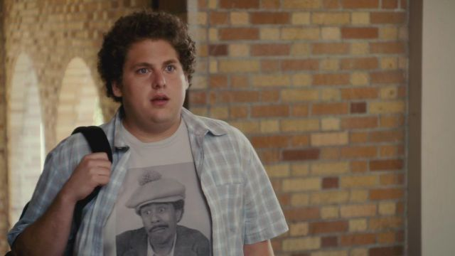 The t-shirt of Seth (Jonah Hill) in Supergrave / Superbad