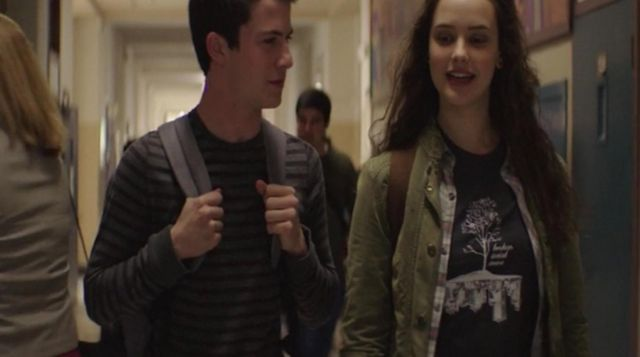 The t-shirt tree of Hannah Baker (Katherine Langford) in 13 Reasons Why