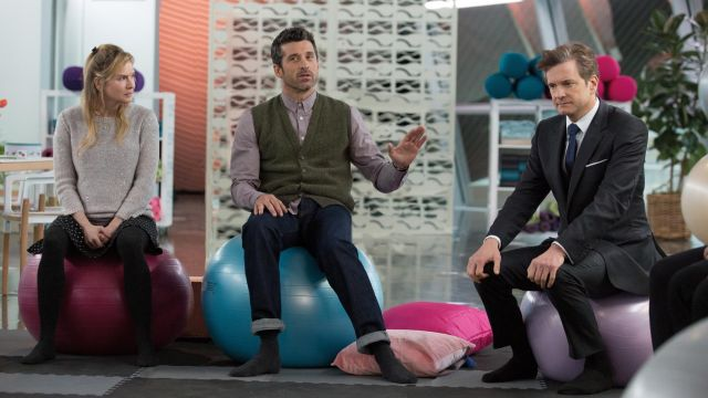 The green jacket without sleeve of Jack Qwant (Patrick Dempsey) in Bridget Jones Baby
