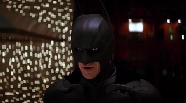 The replica of the mask of Bruce Wayne / Batman (Christian Bale) in The Dark Knight