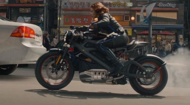 The Motorcycle Harley Davidson Livewire Of Black Widow