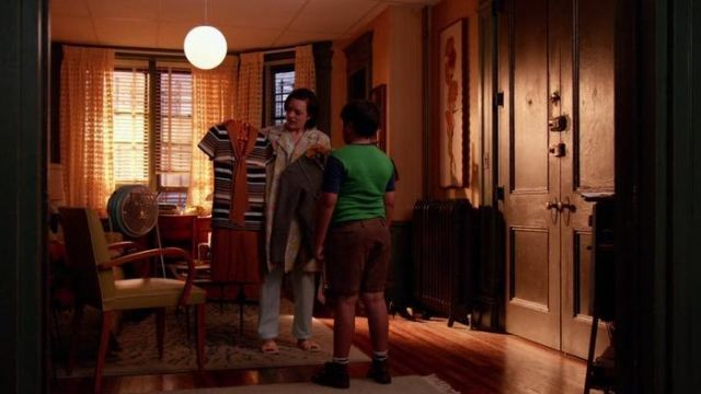 The chairs yellow in the apartment of Peggy Olson (Elisabeth Moss) in Mad Men