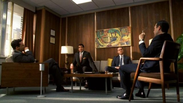 The armchair Boxy of Don Draper (John Hamm) in Mad Men