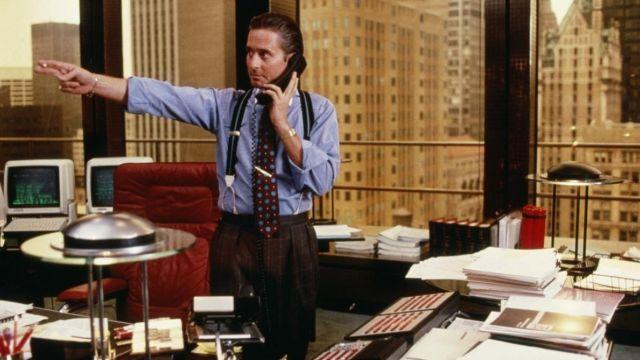 The chair Mariani Executive of Gordon Gekko (Michael Douglas) in Wall Street