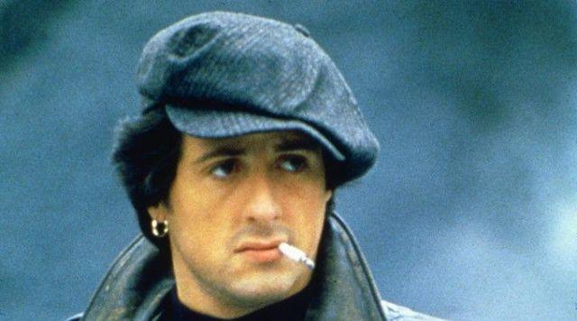 The cap of Rocky Balboa (Sylvester Stallone) in Rocky 3 ...