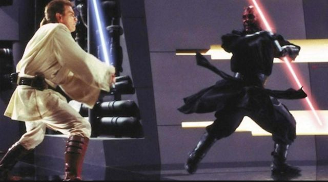 the boots of Darth Maul (Ray Park) in Star wars VII, The