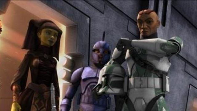 The uniform of the Commander Gree in Star Wars : The Clone
