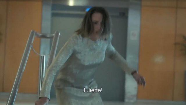 La robe Martin Grants de Andrea Martel (Camille Cottin) à Cannes dans Dix pour Cent S02E06
