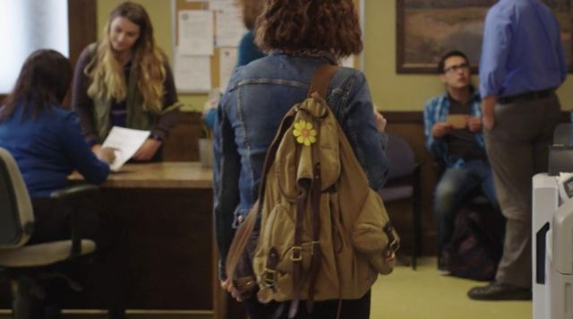 J.Crew Backpack worn by Hannah (Katherine Langford) in 13 Reasons Why (S01E10)