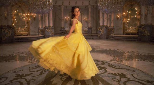 La robe de mariée jaune de Belle (Emma Watson)