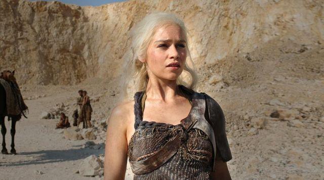 The epaulette of Daenerys Targaryen (Emilia Clarke) in Game of Thrones