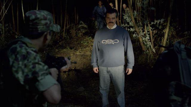 Pablo escobar (Wagner Moura) sweater seen in Narcos | Spotern