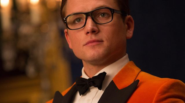 Orange blazer porté par Gary Unwin aka Eggsy (Taron Egerton