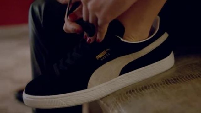 Sneakers Puma Suede black in the clip Red Lights Tiësto
