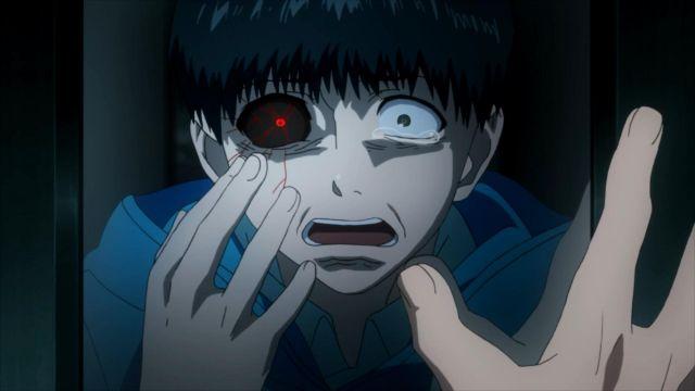 The red lenses of Kaneki in Tokyo Ghoul Season 1 | Spotern