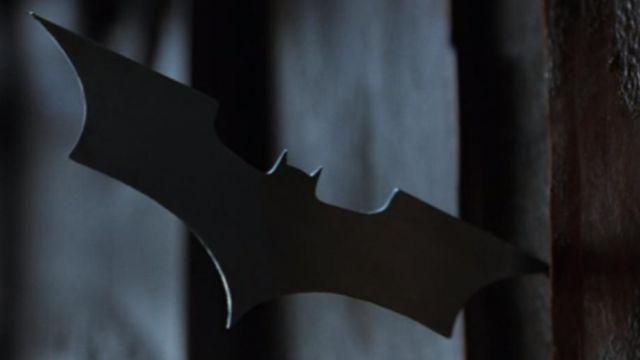 The Batarang of Batman (Christian Bale) in Batman Begins