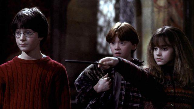 La baguette magique de d'Hermione Granger (Emma Watson) dans Harry Potter à l'école des sorciers