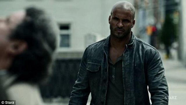Leather Jacket worn by Shadow Moon (Ricky Whittle) in American Gods S01E05