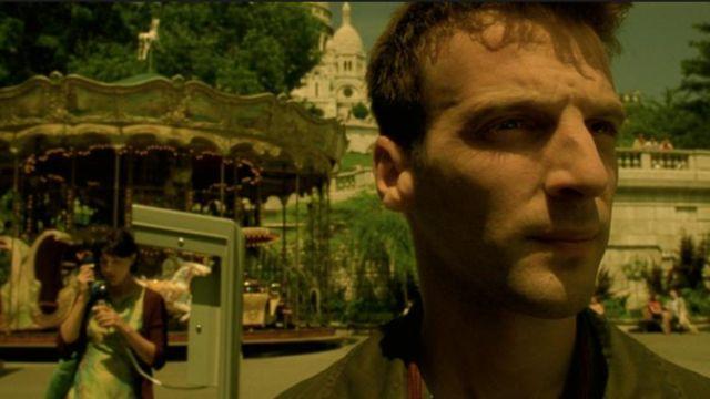 Le Sacré Coeur à Paris en arrière plan de Mathieu Kassovitz dans Le fabuleux destin d'Amélie Poulain