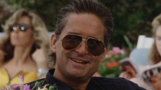 Sunglasses, Cartier Vendome Louis Gordon Gekko (Michael Douglas) in Wall Street