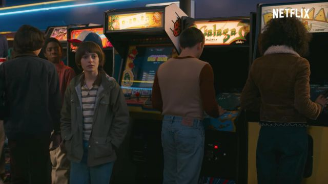 La borne d'arcade Galaga dans Stranger Things saison 2