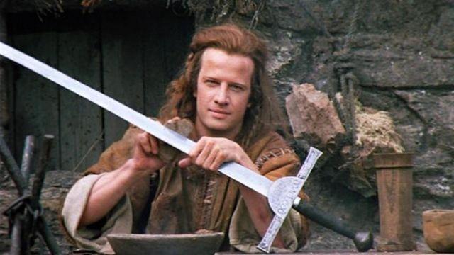 The replica of the sword of the clan Macleod of Conrad MacLeod (Christopher Lambert) in Highlander