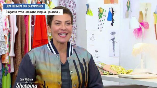 La veste cactus de Cristina Cordula dans Les reines du shopping du 25/07/2017 (version chemise)