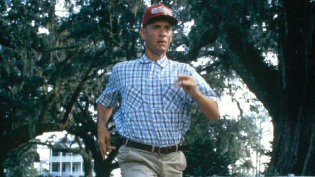 The authentic plaid shirt from Forrest Gump (Tom Hanks) in Forrest Gump