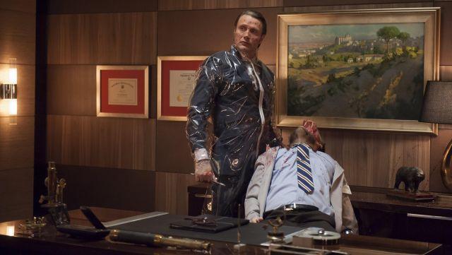 L'authentique combinaison de protection transparente de Hannibal Lecter (Mads Mikkelsen) dans Hannibal S01E10