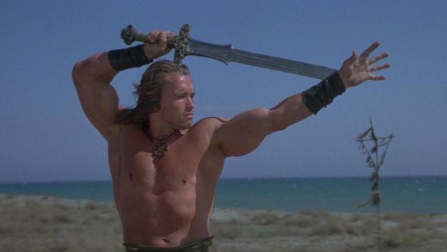 L'authentique glaive Atlantean de Conan (Arnold Schwarzenegger) dans Conan le barbare