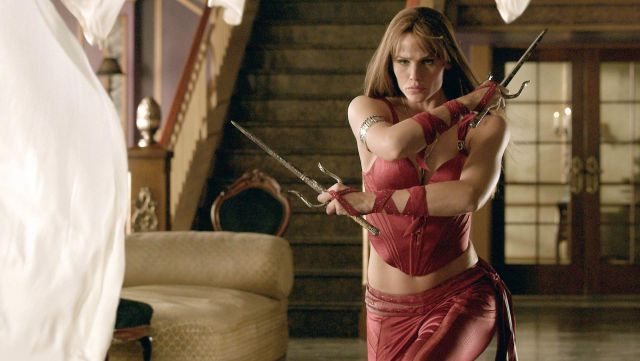 Le cosplay d'Elektra (Jennifer Garner) dans Elektra