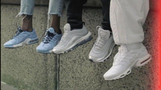 Les Nike air max plus TN White dans le clip Shutdown de