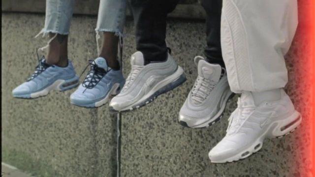 The Nike Air Max 97 White in the clip Shutdown of Skepta