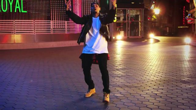 Boots Timberland Chris Brown in her video clip Loyal feat