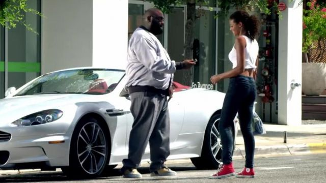 Shoes Converse Chuck Taylor All Star Hi Red In The Clip Aston Martin Music By Rick Ross Spotern