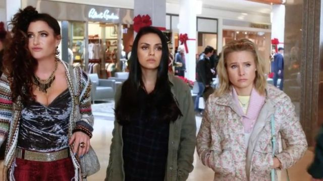 A Bad Moms Christmas Movie.Blue Plaid Shirt Worn By Amy Mila Kunis In A Bad Moms