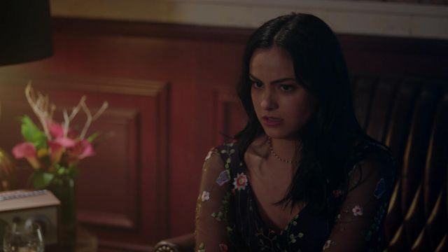 The Transparent Floral Dress Worn By Veronica Lodge Camila Mendes In Riverdale 2x05 Spotern