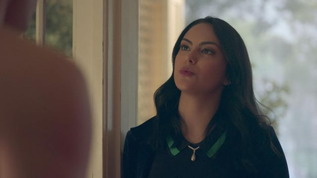 The black polo sweater by Grey Jason Wu worn by Veronica Lodge (Camila Mendes) in Riverdale 2x02