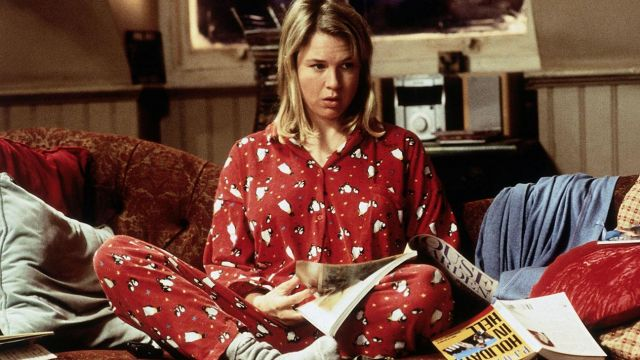The pyjama red Bridget Jones (Renée Zellweger) in Bridget Jones Diary