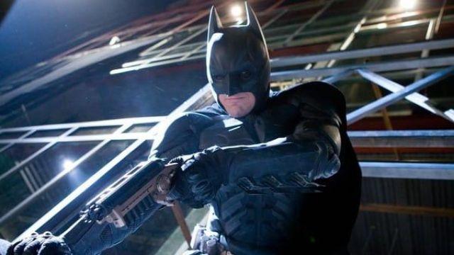 The Grapnel Gun Batman/Bruce Wayne (Christian Bale) in The Dark Knight
