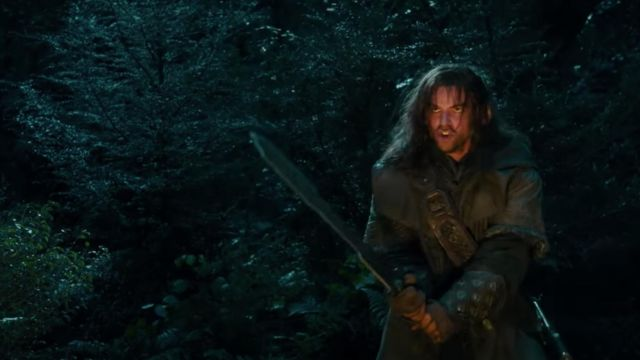 L'épée de Kili (Aidan Turner) dans Le Hobbit: Un voyage inattendu