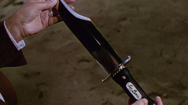 Knife of Colonel James Bowie (Richard Widmark) as seen in