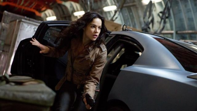 Leather Jacket worn by Letty Ortiz (Michelle Rodriguez) as seen in The Fate And The Furious