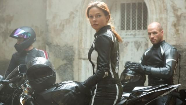 Motorcycle Jacket worn by Ilsa Faust (Rebecca Ferguson) as seen in Mission: Impossible - Rogue Nation