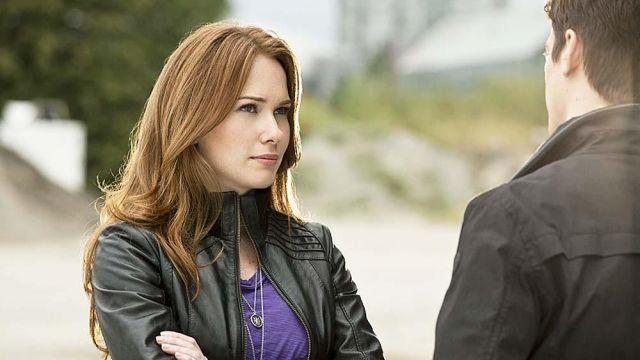 Leather Jacket worn by Bette Sans Souci / Plastique (Kelly Frye) as seen in The Flash S01E05