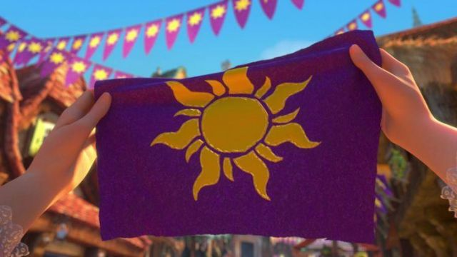 The Flag Purple Sun In Rapunzel Spotern