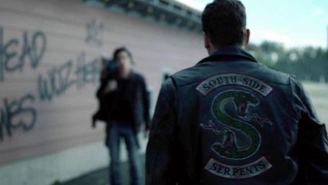 grand choix de 1ea16 db40b Black Leather Southside Serpents Jacket worn by Jughead ...