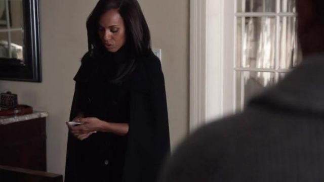 Olivia Pope (Kerry Washington) Cape Coat by Christian Dior in Scandal 7x7