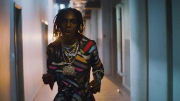 Denim Jacket With Chains worn by YNW Melly in his Butter