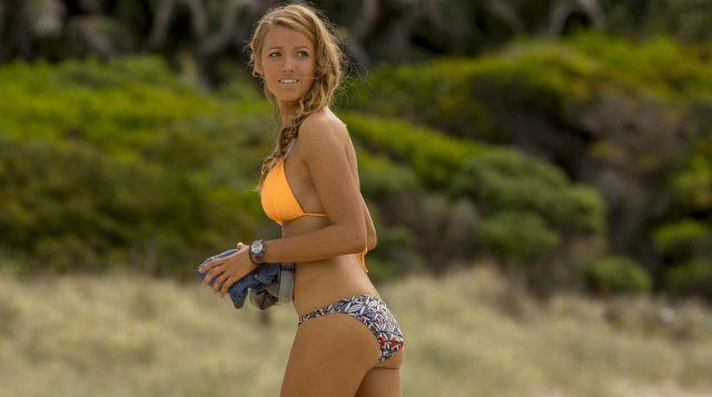 Le bas de bikini imprimé de Nancy (Blake Lively) dans Instinct de Survie